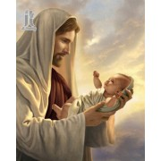 Diy Diamond Embroidery Jesus And The Child Diamond Painting Rhinestone Painting Cross Stitch Needlework Home Decoration
