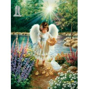 Diy Diamond Embroidery Little Angel Feeding the Chicken Diamond Painting Rhinestone Painting Cross S..