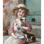 Diy Diamond Embroidery Little Girl Holding A Cat Diamond Painting Rhinestone Painting Cross Stitch N..