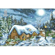 Diy Diamond Embroidery Most Beautiful Snowy Night Diamond Painting Rhinestone Painting Cross Stitch ..