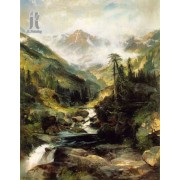 Diy Diamond Embroidery Mountain of the Holy Cross by Thomas Moran Diamond Painting Rhinestone Painting Cross Stitch Needlework Home Decoration