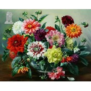 Diy Diamond Embroidery Multicolored Flowers Diamond Painting Rhinestone Painting Cross Stitch Needle..
