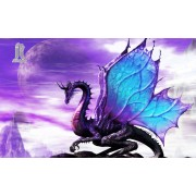 Diy Diamond Embroidery Purple Dragon Diamond Painting Rhinestone Painting Cross Stitch Needlework Ho..