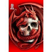 Diy Diamond Embroidery Red Dragon Skull Diamond Painting Rhinestone Painting Cross Stitch Needlework..