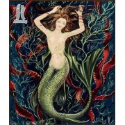 Diy Diamond Embroidery Sailors and Mermaids Diamond Painting Rhinestone Painting Cross Stitch Needle..
