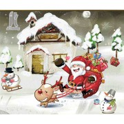 Diy Diamond Embroidery Santa's Sleigh Diamond Painting Rhinestone Painting Cross Stitch Needlework H..