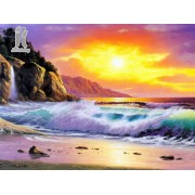 Diy Diamond Embroidery Seascape Diamond Painting Rhinestone Painting Cross Stitch Needlework Home Decoration