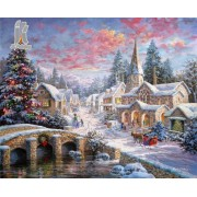 Diy Diamond Embroidery Snow Town Diamond Painting Rhinestone Painting Cross Stitch Needlework Home D..