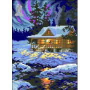 Diy Diamond Embroidery Snowy Night Diamond Painting Rhinestone Painting Cross Stitch Needlework Home..