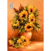 Diy Diamond Embroidery Sunflower Vase Diamond Painting Rhinestone Painting Cross Stitch Needlework H..