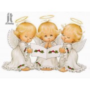Diy Diamond Embroidery Three Little Angels Diamond Painting Rhinestone Painting Cross Stitch Needlew..