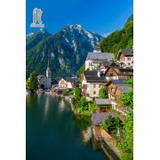 Diy Diamond Embroidery Town of Hallstatt Austria Diamond Painting Rhinestone Painting Cross Stitch N..