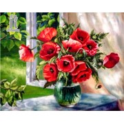 Diy Diamond Embroidery Window Vase Diamond Painting Rhinestone Painting Cross Stitch Needlework Home..