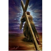 Jesus Carrying the Cross Religious Diamond Painting Kit Full Drill Round Drills..