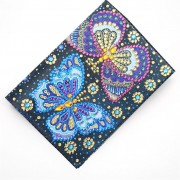 Passport Holder With Diy Diamond Painting Cover Christmas Gifts Special Shaped Diamond Two Butterfli..