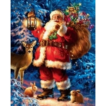 Diy Diamond Embroidery Lovely Santa Claus Diamond Painting Rhinestone Painting Cross Stitch Needlework Home Decoration