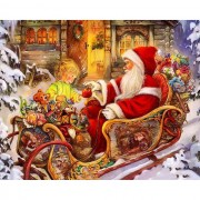 Diy Diamond Embroidery Santa Claus Christmas Diamond Painting Rhinestone Painting Cross Stitch Needl..