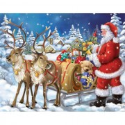 Diy Diamond Embroidery Santa Claus Coming To Town Diamond Painting Rhinestone Painting Cross Stitch ..