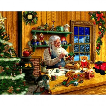 Diy Diamond Embroidery Santa Claus Make Gifts Diamond Painting Rhinestone Painting Cross Stitch Needlework Home Decoration