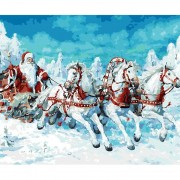 Diy Diamond Embroidery Santa Claus Carriage Diamond Painting Rhinestone Painting Cross Stitch Needle..